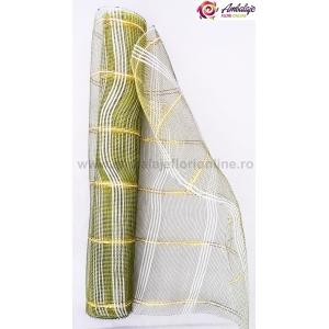 Ambalaje Flori ONLINE vinde Plasa simpla cu fir verde la pretul de 12.99 lei