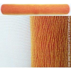 Plasa Plastic Simpla Rosu cu Auriu