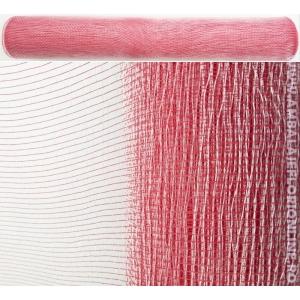 Plasa Plastic Simpla Rosu cu Alb