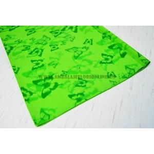 Ambalaje Flori ONLINE vinde Celofan color fluturi verde la pretul de 10.5 lei