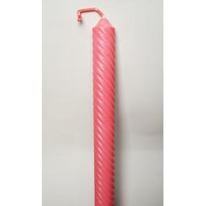 Lumanare botez model spirala roz