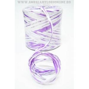 Ambalaje Flori ONLINE vinde Rafie liliac cu alb la pretul de 19.9 lei