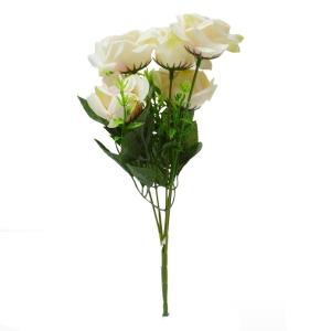 Buchet 5 trandafiri Rhodos crem cu frez - ambalaje si accesorii florale