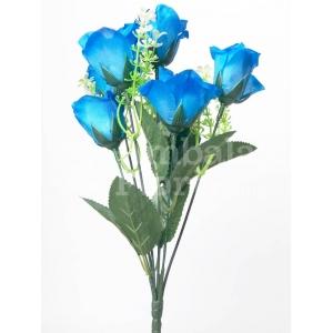 Mini Buchet 7 Trandafiri Albastri