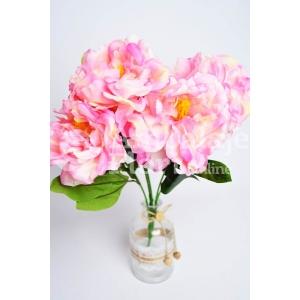 Ambalaje Flori ONLINE vinde Buchet 5 Bujori SS Roz la pretul de 18.9 lei