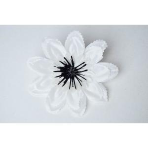 Set 90 buc flori artificiale funerare, Cap DL Alb