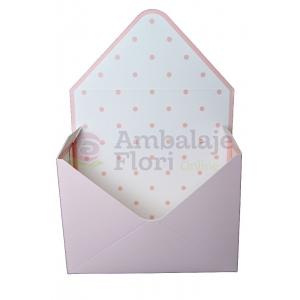 Ambalaje Flori ONLINE vinde Cutie Tip Plic Roz pal la pretul de 8.9 lei