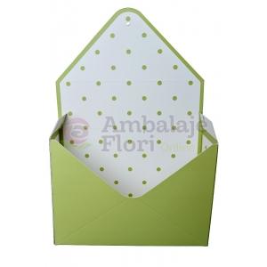 Ambalaje Flori ONLINE vinde Cutie Tip Plic Verde la pretul de 8.9 lei