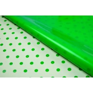 Ambalaje Flori ONLINE vinde Celofan 2 fete Buline - Verde cu Crem la pretul de 19.99 lei