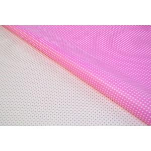 Ambalaje Flori ONLINE vinde Celofan 2 fete Minidots - Roz cu Alb la pretul de 19.99 lei