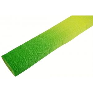 Ambalaje Flori ONLINE vinde Hartie Creponata Floristica - Degrade Verde cu Galben - cod 600/5 la pretul de 7.99 lei