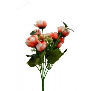 Mini Buchet Ranunculus Corai cu Alb - ambalaje si accesorii florale