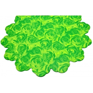 Celofan Rotund 40CM Trandafiri Verde