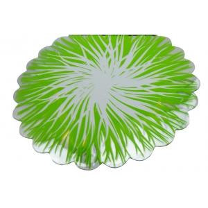 Ambalaje Flori ONLINE vinde Celofan Rotund Flacari Verde cu Alb la pretul de 22.99 lei