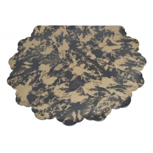 Celofan Rotund 50CM Patat Negru cu Auriu