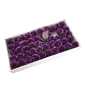 Set 50 trandafiri sapun parfumati, atingere reala, 3P, marsalla
