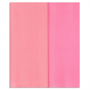 Hartie creponata Gloria Doublette roze deschis-roz, cod 3317 - ambalaje si accesorii florale
