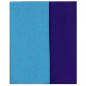 Hartie creponata Gloria Doublette bleo-albastru, cod 3320 - ambalaje si accesorii florale