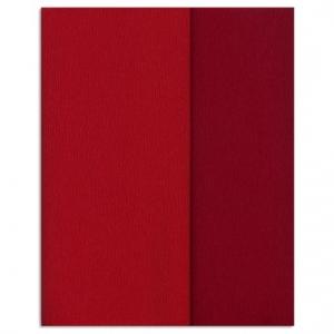 Hartie creponata Gloria Doublette rosu-rosu carmin, cod 3331 - ambalaje si accesorii florale
