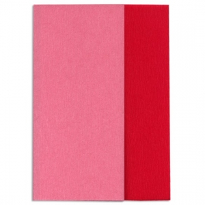 Hartie creponata Gloria Doublette rose inchis-rosu, cod 3333