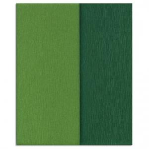 Hartie creponata Gloria Doublette verdes-verde muschi, cod 3340 - ambalaje si accesorii florale