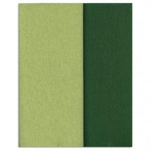Hartie creponata Gloria Doublette verdes lamaie-verde muschi, cod 3341 - ambalaje si accesorii florale