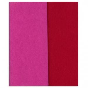 Hartie creponata Gloria Doublette roz-rosu carmin, cod 3350 - ambalaje si accesorii florale