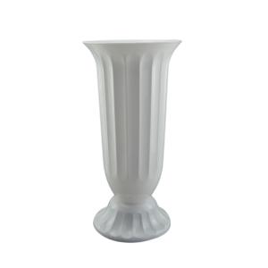Ambalaje Flori ONLINE vinde Vaza podea 18x38 cm alb perlat la pretul de 16.9 lei
