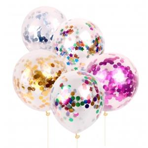 Ambalaje Flori ONLINE vinde Set 5 baloane confetii latex mixte la pretul de 14.9 lei