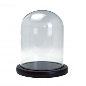 Bol Sticla tip Cupola suport lemn 15x12