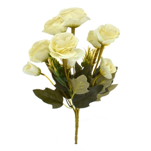 Buchet 10 Trandafiri Vintage Crem - ambalaje si accesorii florale