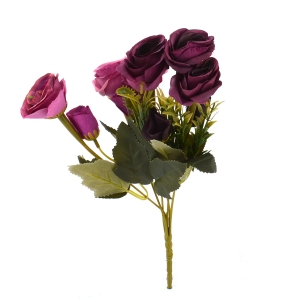 Ambalaje Flori ONLINE vinde Buchet 10 Trandafiri Vintage Siclam/Marsalla la pretul de 7.9 lei