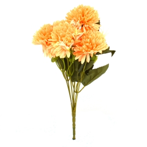 Buchet 6 Crizanteme - Portocaliu