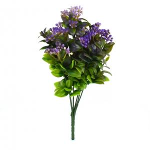 Buchet Kalanchoe Verde cu Liliac