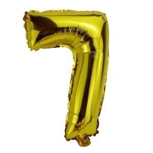 Balon Folie 35cm Cifra 7 - Auriu