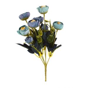 Mini Buchet Ranunculus Vintage Albastru cu Turquoise