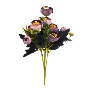 Ambalaje Flori ONLINE vinde Mini Buchet Ranunculus Vintage Liliac cu Mov la pretul de 7.9 lei