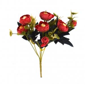 Ambalaje Flori ONLINE vinde Mini Buchet Ranunculus Vintage Rosu la pretul de 7.9 lei