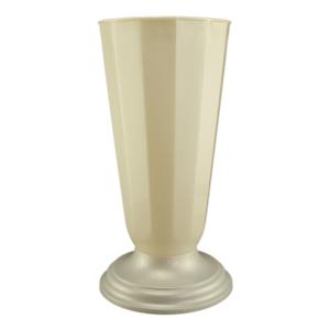 Vaza podea 32x49 cm alb perlat