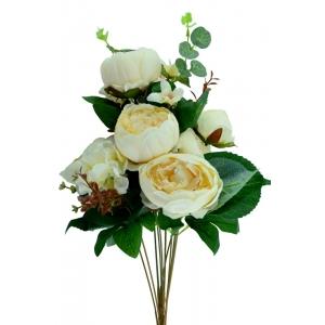 Buchet 7 Bujori Neo Midi Crem - ambalaje si accesorii florale