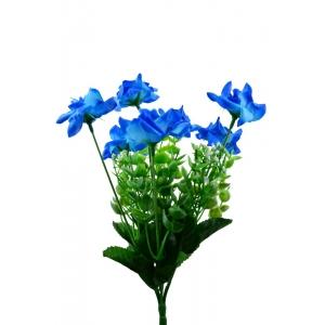 Mini Buchet 7 Miniroze Albastru - ambalaje si accesorii florale
