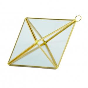 Ambalaje Flori ONLINE vinde Terariu Geometric Romb Mic Auriu la pretul de 39.9 lei