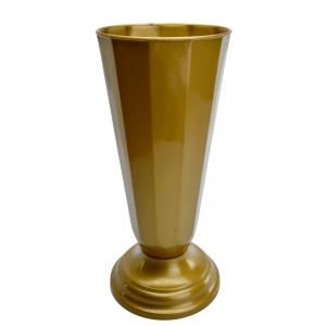 Ambalaje Flori ONLINE vinde Vaza Flori Aurie - diametru 15cm la pretul de 14.9 lei