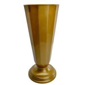 Ambalaje Flori ONLINE vinde Vaza Flori Aurie - diametru 19cm la pretul de 19.9 lei