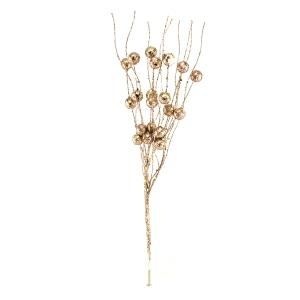 Crenguta curly bobite cu sclipici roze gold - ambalaje si accesorii florale