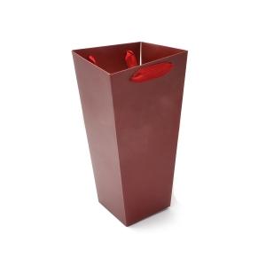 Ambalaje Flori ONLINE vinde Cutie Carton Tip Sacosa Mare Grena la pretul de 4.9 lei