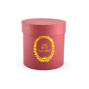 Cutie cilindrica fara manere best whishes rosu inchis