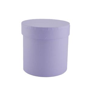 Cutie cilindrica fara manere neinscriptionata mov pastel