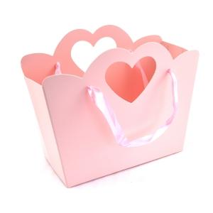 Cutie pliabila toarta inima roz