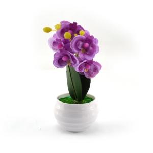 Mini ghiveci orhidee artificiala mov